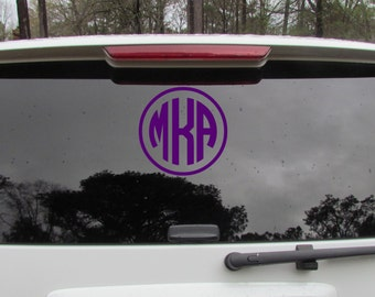 car decal, 3 letter monogram, personalized decal, vinyl car stick,custom car decal, vinyl decal