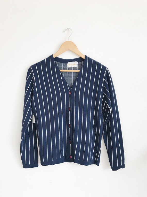 vintage striped knit top / cardigan
