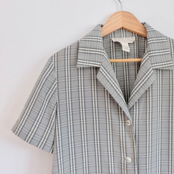california collection - plaid summer button down