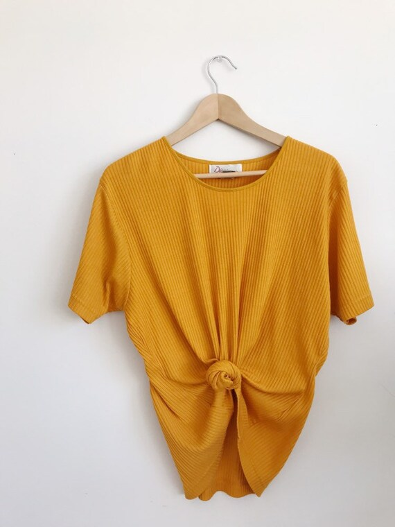 vintage ribbed yellow tee