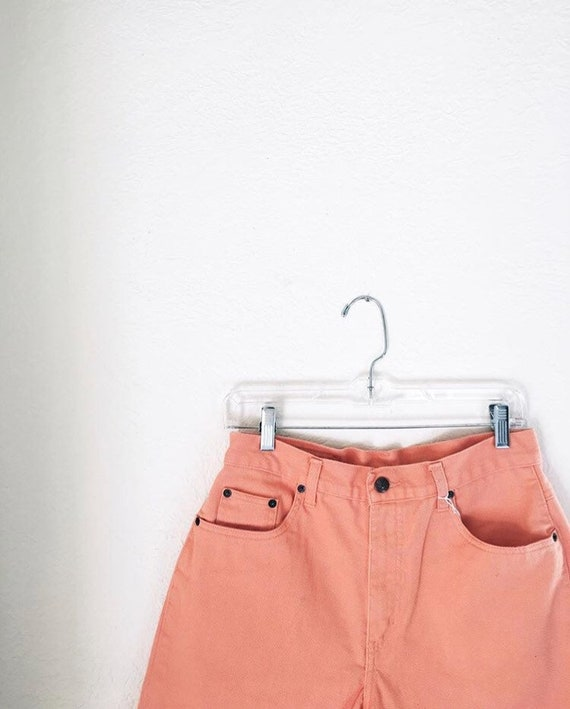 peachy denim shorts
