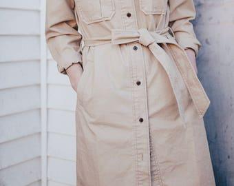 vintage 90's khaki Gap dress / jacket