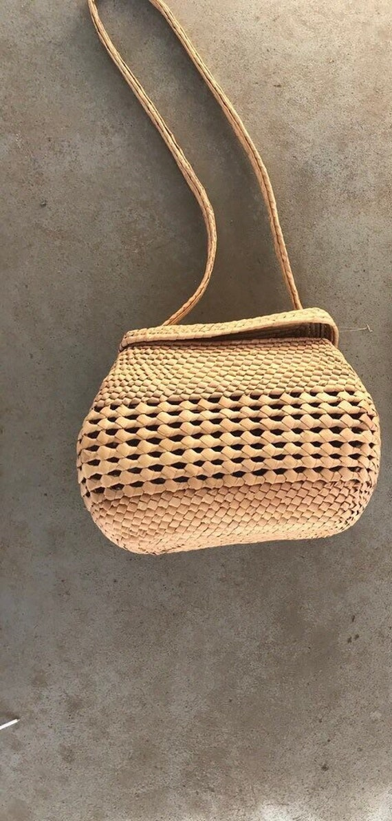 wicker woven purse