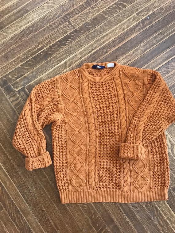 burnt orange knit