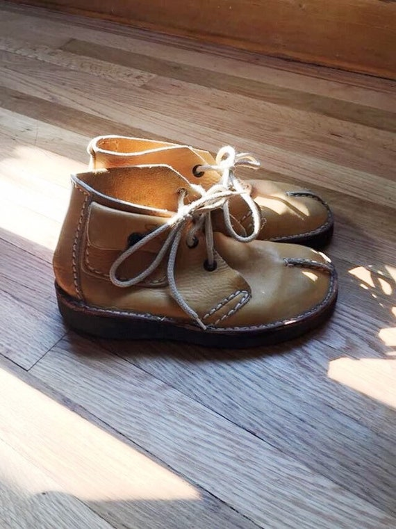 vintage Clarks leather booties