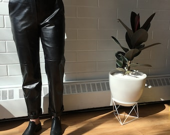 vintage danier leather trousers