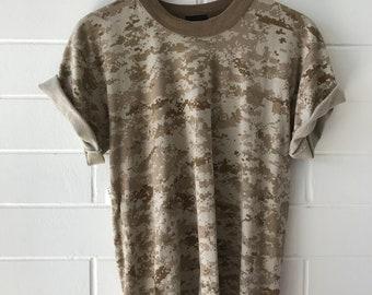vintage lightweight khaki camouflage tee