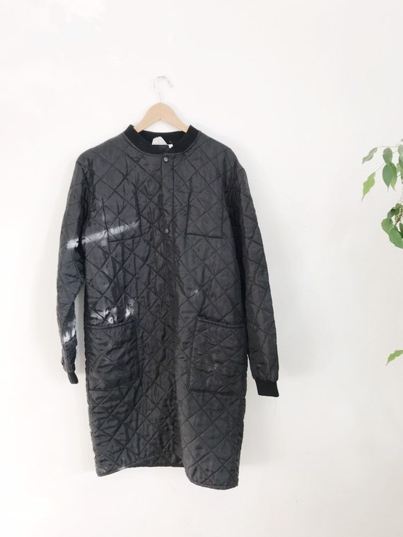 long quilted liner coat