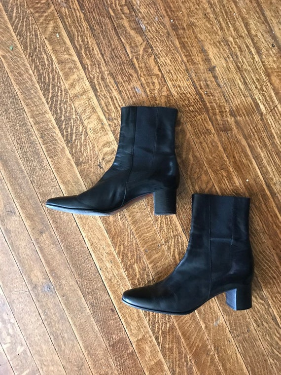 Reserved for Ashton: leather Cole Haan tight black ankle boots