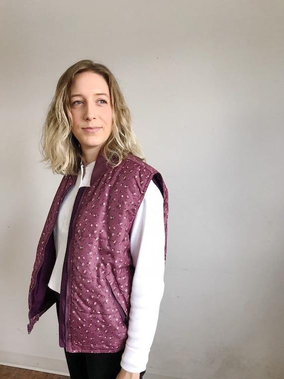 mini floral quilted vest