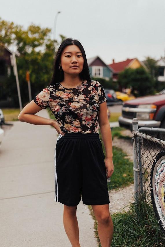 floral mesh shirt