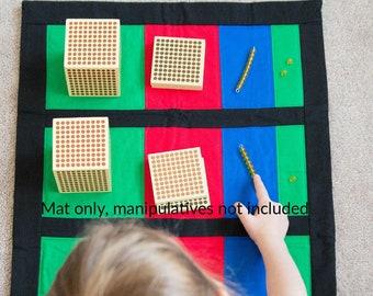 Montessori, Mat For Golden Bead Operations, Montessori, Montessori Math, Montessori Addition, Montessori Material, Homeschool, Montessori