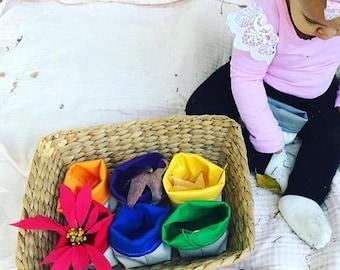 Secondary Color-Sorting Bins, Montessori Color Sort, Organic Classroom Materials, Color Sorting Activity, Preschooler Color Activity, Teache