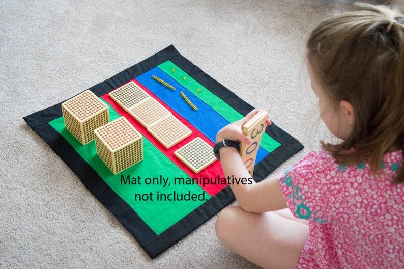 Montessori Mat for Place Value Montessori Materials image 0