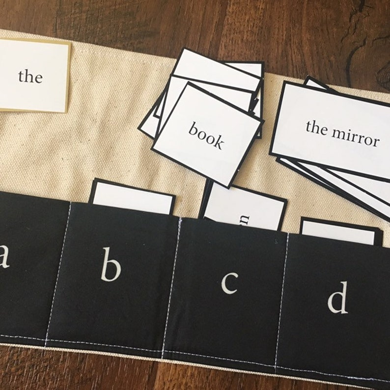 ONLY the Printed Montessori Grammar Box Filling and Command image 0