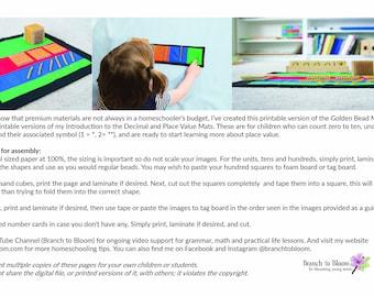 Montessori, Golden Bead Material, Montessori Printable, Montessori Download, Montessori Materials, Montessori Math, Montessori Place Value