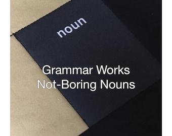 Montessori, Noun Lesson Guide,  Montessori Printable, Noun Key Experience, Montessori Elementary, Homeschool Grammar Lesson, Grammar PDF