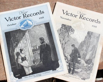 Vintage 1918 Victor Records Booklet Set