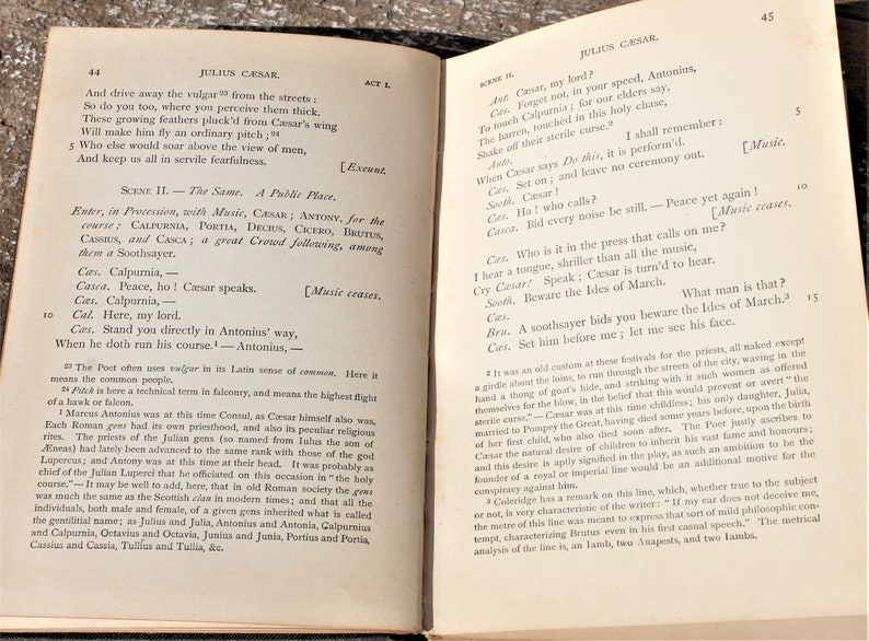 Vintage 1876 Caesar by Shakespeare Standard English Classics for Schools  and Classes