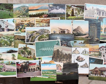 Vintage 1900's-1940's California Postcards Lot of 32