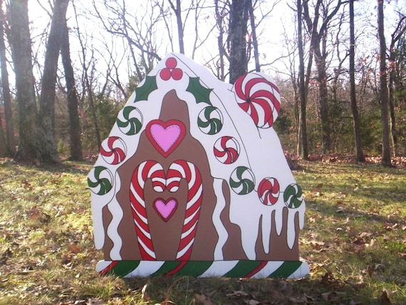 image 0 - Christmas Gingerbread House Yard Decoration