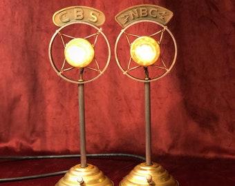 Illuminated Spring Microphone CBS or NBC