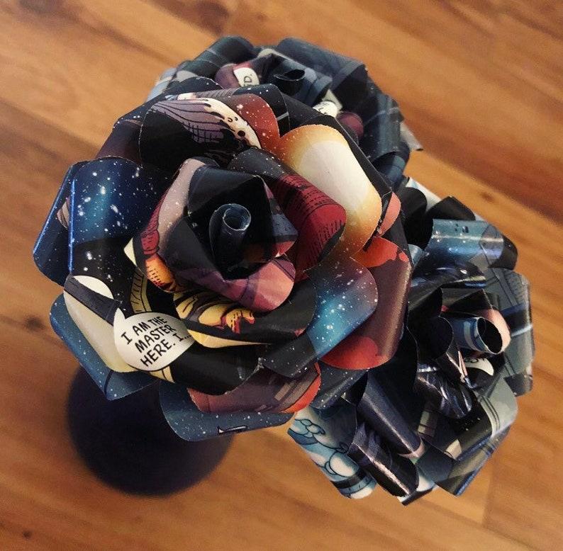 Comic Book Flower Bouquet Marvel Dc Superhero Roses Nerd Etsy
