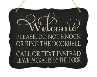 photograph regarding Please Knock Sign Printable named Do not knock indication Etsy