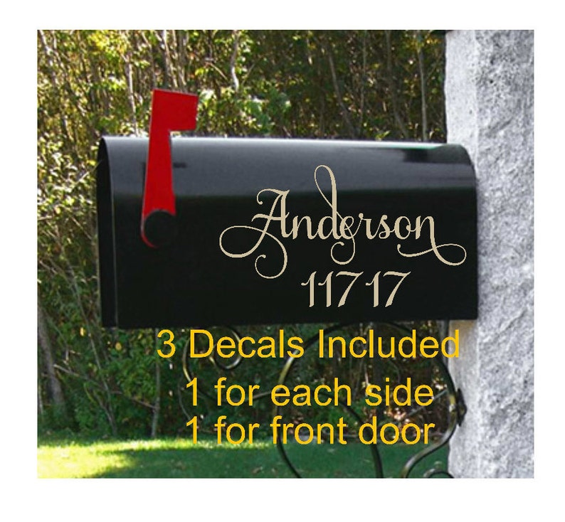 House Numbers Custom Mailbox Mailbox Designs Personalized Mailbox Vinyl Mailbox Address 3 Mailbox Decals Mailbox Stickers