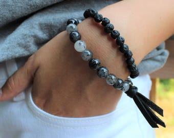 Essential Oil Diffuser Bracelet · Gemstones · Lava bead · Aromatherapy