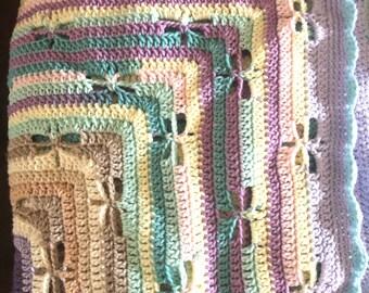 Dragonfly Blanket, Dragonfly, Crochet, Baby Blanket, Afghan, Throw, Drafonflies