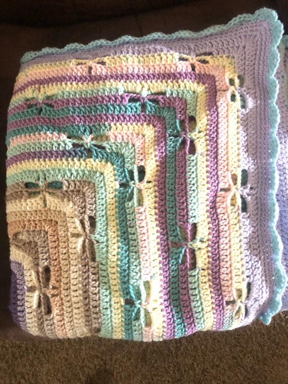 Dragonfly Crochet Baby Blanket Dragonfly Blanket Baby Blanket Crochet Baby Blanket Dragonfly Baby Blanket Crochet Crib Blanket