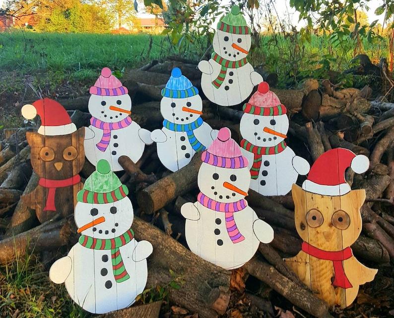 Outdoor Snowman Christmas Decorations.Pallet Snowman Outdoor Christmas Decor Outdoor Snowman Colorful Snowman Wood Snowman Decor Outdoor Winter Decor