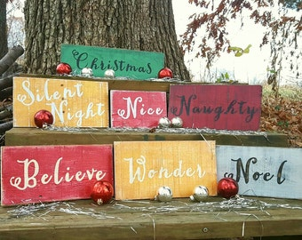 Christmas wood sign, Rustic Christmas signs, Christmas decor, Custom Christmas sign, Hand painted Christmas sign, Farmhouse Christmas decor