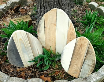 Easter decorations, Easter egg decor, Wood Easter egg, Pallet easter egg, Outdoor Easter decor, Unfinished easter egg, DIY Easter egg