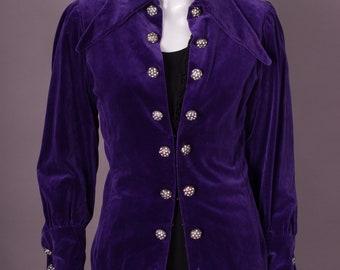 70s Velvet Jacket, Gr. 36