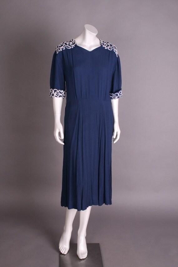 40s dress blue, Gr.40