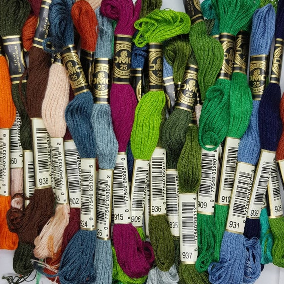 Mouline Special 100/% Cotton SECOND HAND DMC 400-449 Embroidery Thread