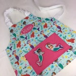 Mermaid Personalised Kids Apron. Also Adult Sizes, Appliqué Pocket & Chef Hat Are Add On Options.