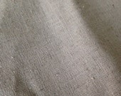 Organic Cotton / Linen Fabric, undyed natural flecked colour, medium weight, perfect for homewares, clothing, aprons, sewing, diy projects