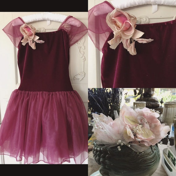 Vintage dancing dress of velvet with a really old