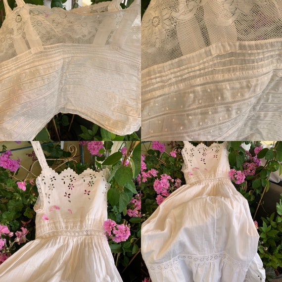 French old underdress , with beautiful lace, perf… - image 3