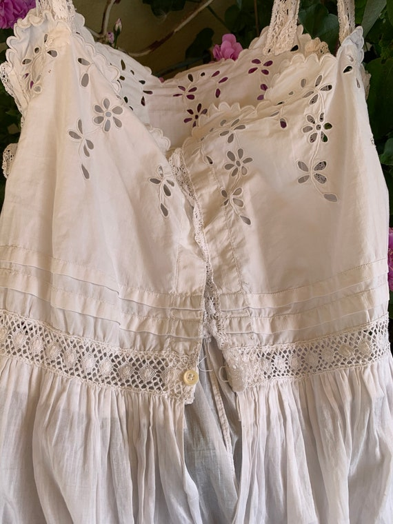 French old underdress , with beautiful lace, perf… - image 6