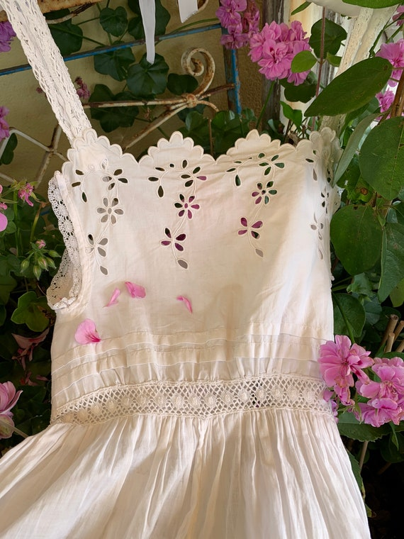 French old underdress , with beautiful lace, perfe