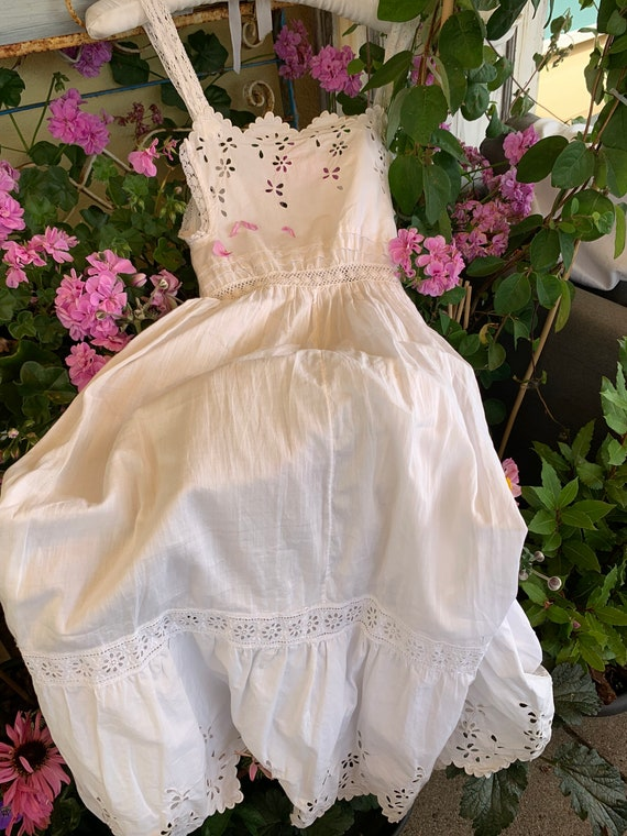 French old underdress , with beautiful lace, perf… - image 4
