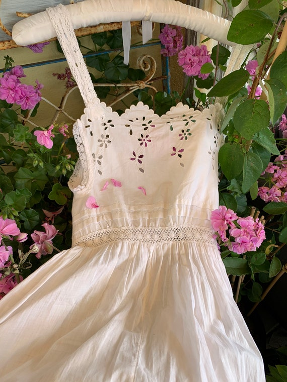 French old underdress , with beautiful lace, perf… - image 5