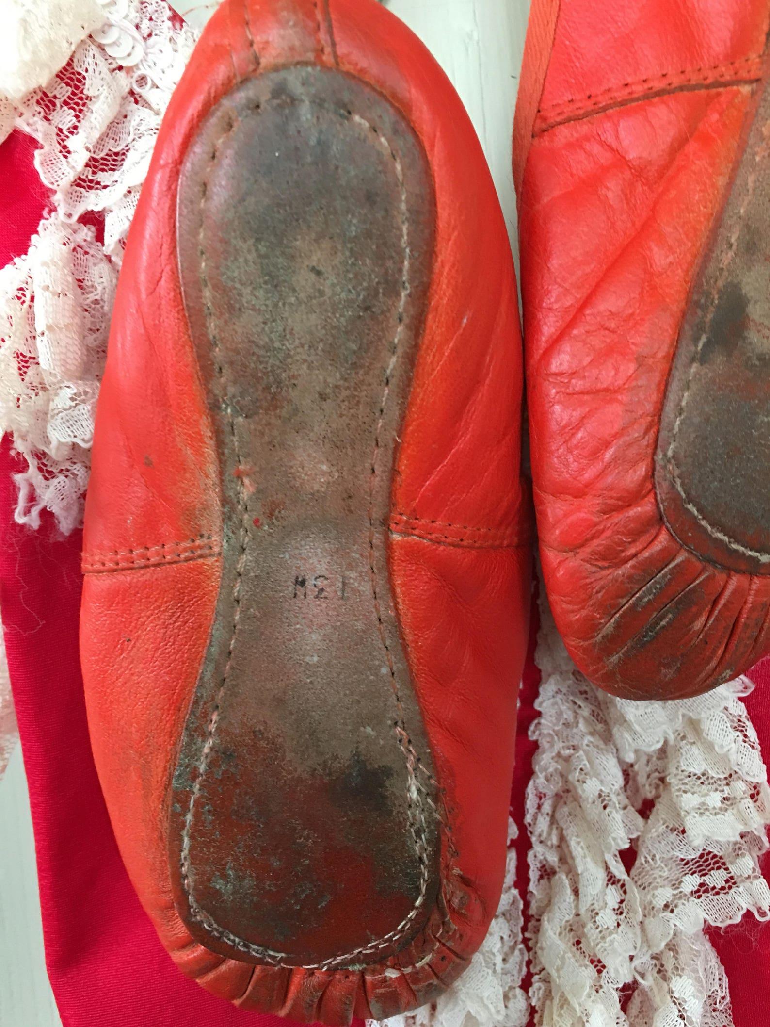 ballet shoes sold vintage, retro dance tutu, dress. fifties,france with little ballet shoes