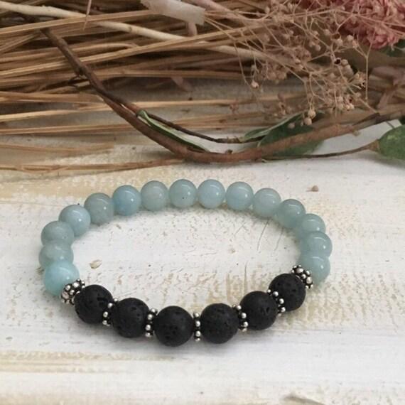 2019 Black Lava Bracelet,Diffuser Bracelet,Sterling Silver Jewelry,Gemstone Bracelet,Yoga Jewelry,Gift for Her,Inspirational Bracelet,Gift