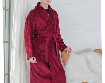 857bc69141 Personalized Terry Cloth Robe   100% Cotton   Monogrammed Robe   Bath Robe    Dark Red Robe   Burgund Robe   Personalized Embroidery