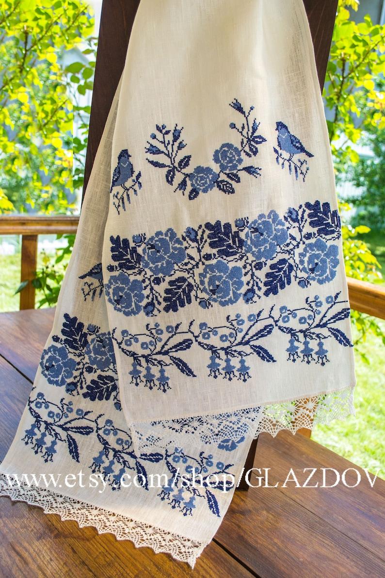 Cross-stitched ukrainian wedding towel image 0